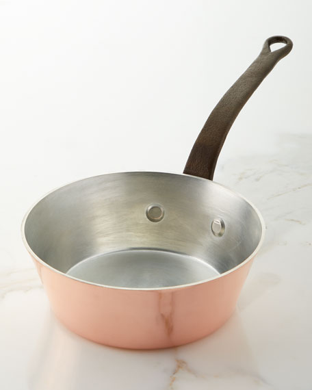 Duparquet Copper Cookware Solid Copper Tin-Lined Splayed Sauce