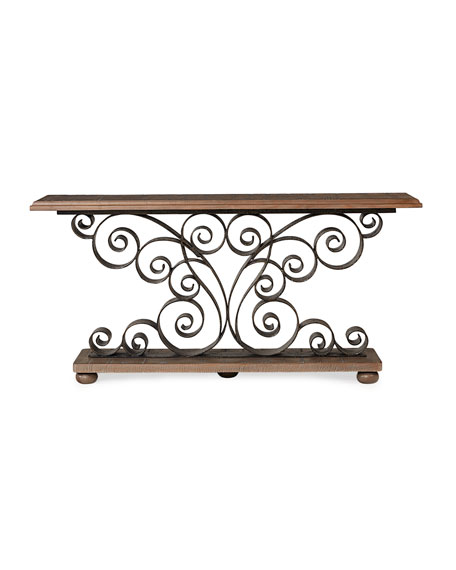 Berg Metal Scroll Console Table