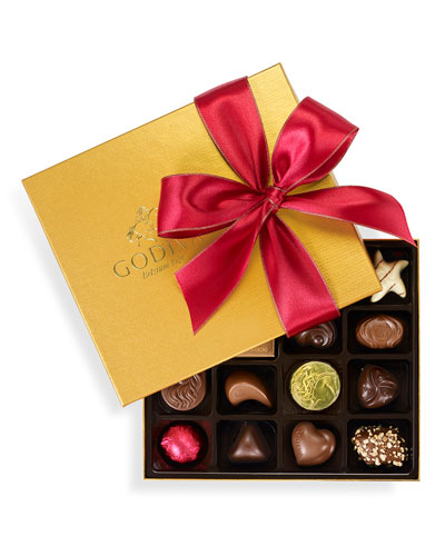 19-Piece Holiday Gold Ballotin Assorted Chocolates Box