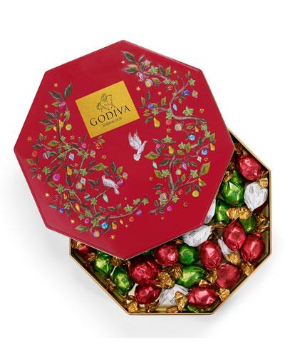 50-Piece Holiday Chocolate Tin