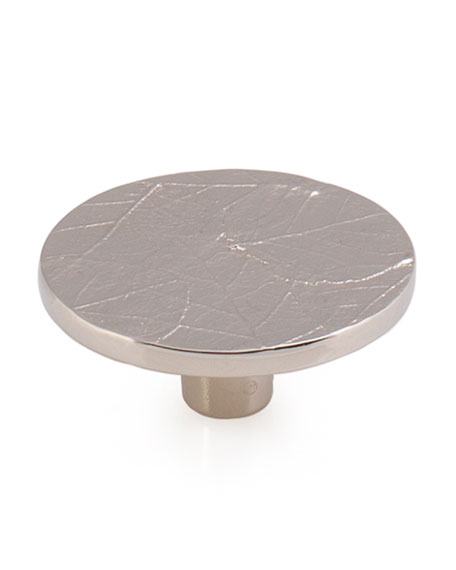 Michael Aram Forest Leaf Round Knob - Nickel