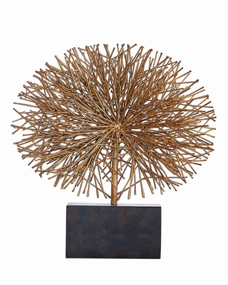 Global Views Large Gold Leaf Tumble Weed Sculpture