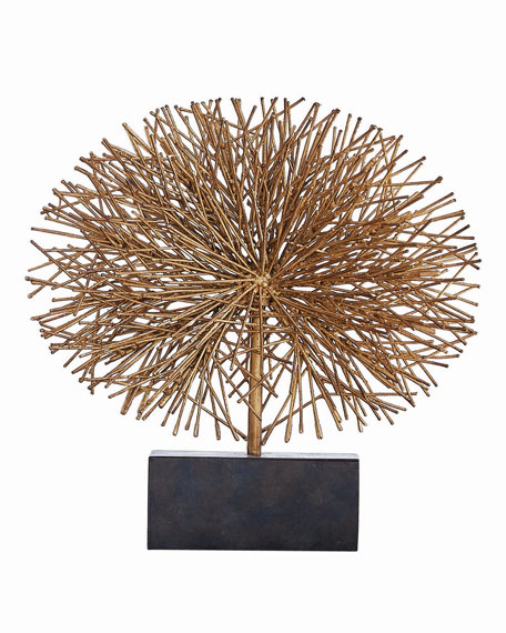 Global Views Small Gold Leaf Tumble Weed Sculpture