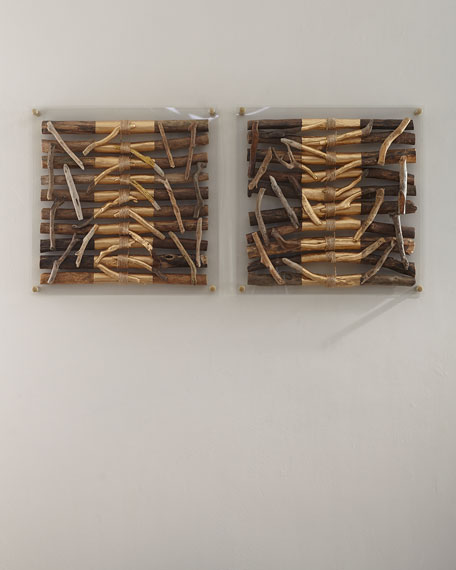 Acrylic Driftwood Striped Wall Decor