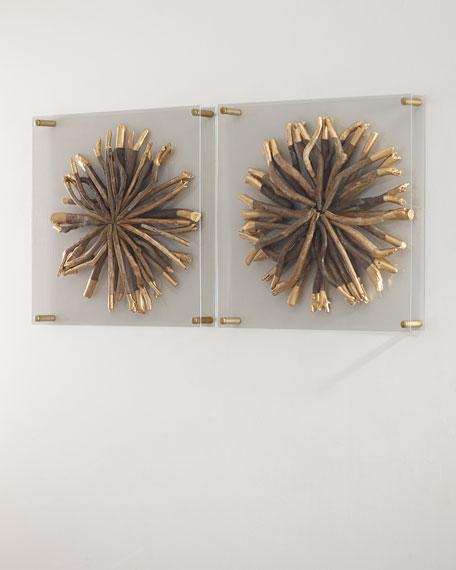 Acrylic Driftwood Round Wall Decor