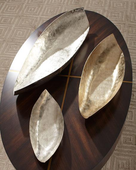 Aluminum Striped Boat Bowls, Set of 3