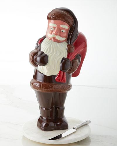 Vintage Chocolate Santa
