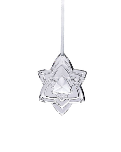 2018 Annual Crystal Christmas Ornament  Silver