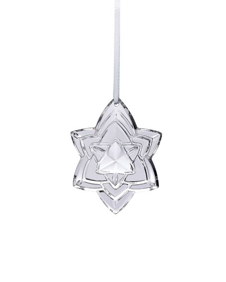 Baccarat 2018 Annual Crystal Christmas Ornament, Silver