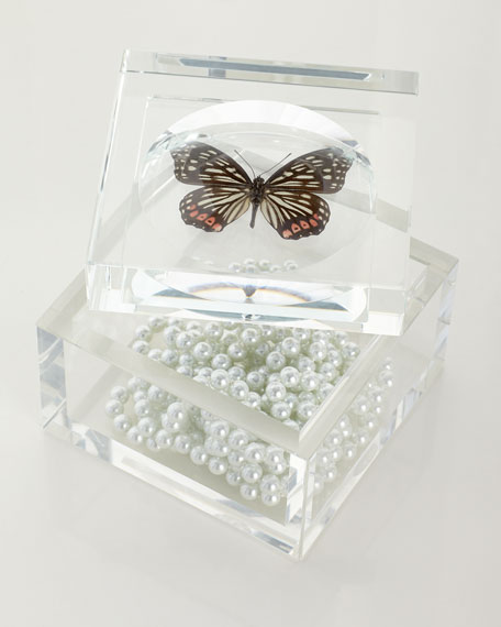 John-Richard Collection Crystal Butterfly Box