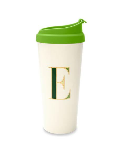 """thermal """"e"""" initial travel mug"""