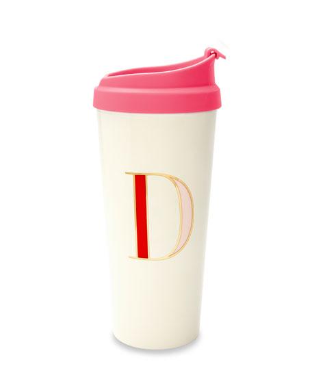 """thermal """"d"""" initial travel mug"""