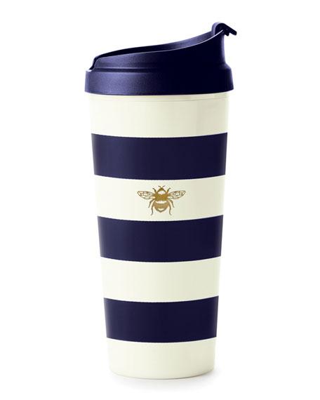 stripe thermal mug