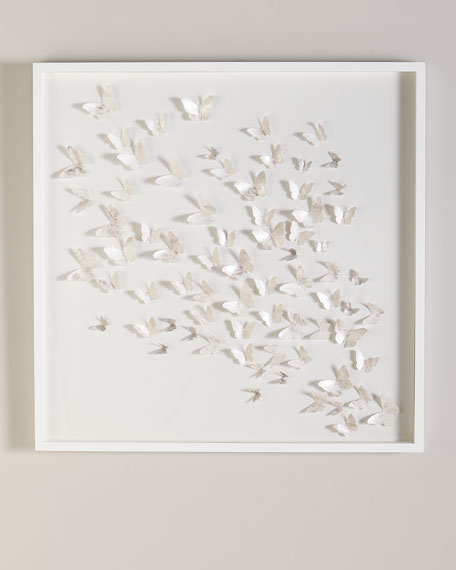 Silver Butterfly Shadowbox