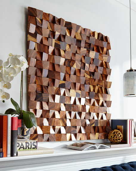 Wood Blocks Wall Panel Decor