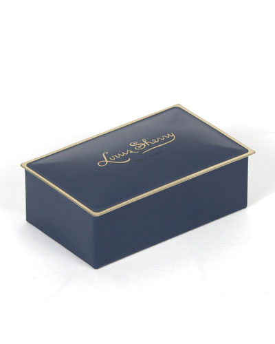 Ming Blue Two-Piece Chocolate Truffle Tin