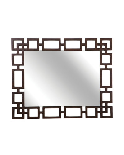 Haven Greek Key Rectangle Wall Mirror