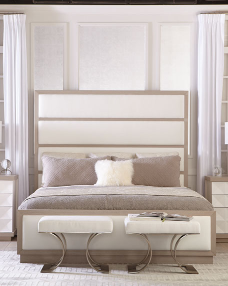 Axiom Tall Upholstered Panel King Bed