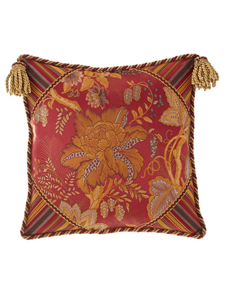 Francesca Boutique Pillow with Tassel Trim