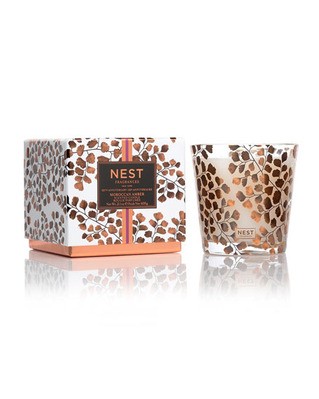 10th Anniversary Moroccan Amber 3-Wick Scented Candle
