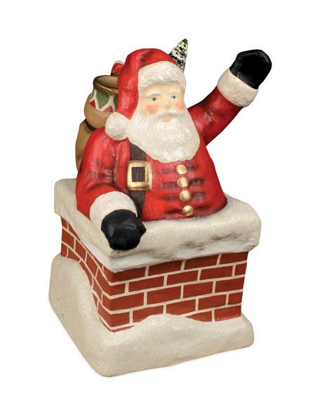 Vintage Paper Mache Santa Claus Face Head Wall Hanging Christmas ...   570x456