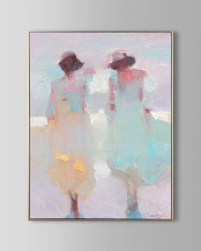 Pastel Pair Wall Art by N. Ming