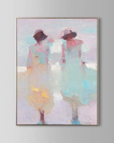 Pastel Pair Wall Art by N. Ming