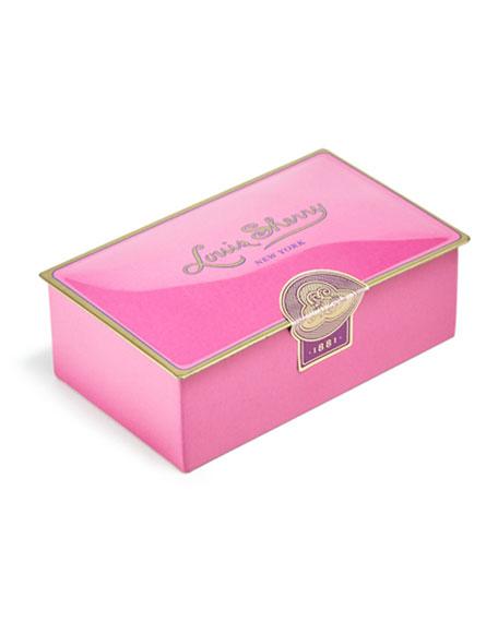 Louis Sherry Draper Pink Two-Piece Chocolate Truffle Tin