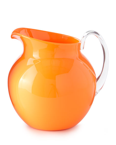 Palla Fluorescent Acrylic Pitcher, Orange