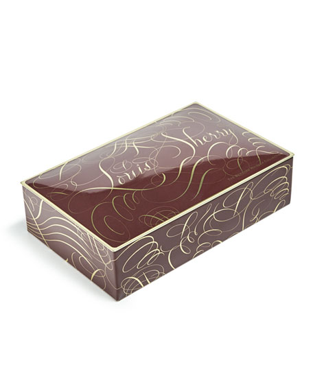 Louis Sherry Calligraphy 12-Piece Assorted Chocolate Truffle Tin