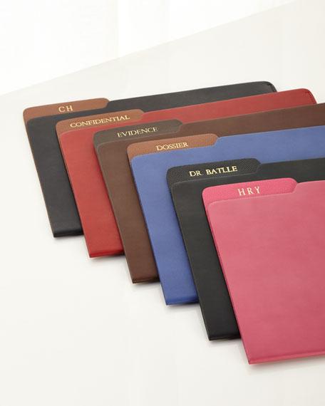 Genuine Leather File Folder, Personalized