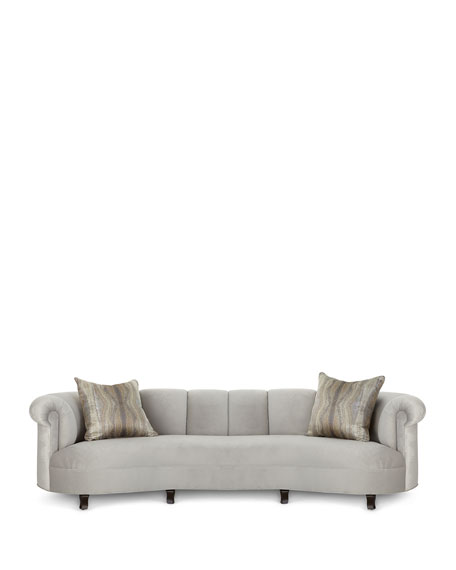 """Audrey Channel Tufted Sofa 123"""""""