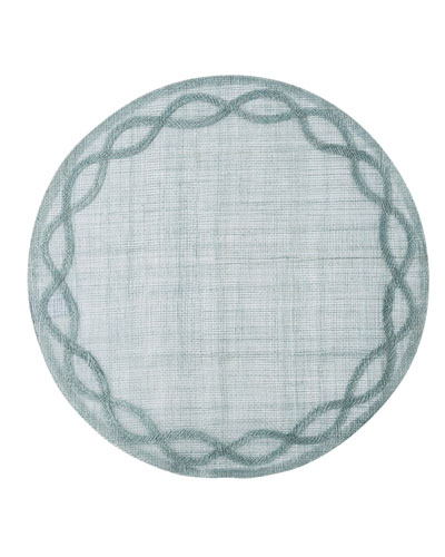 Tuileries Garden Placemat  Ice Blue