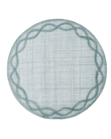 Tuileries Garden Placemat, Ice Blue