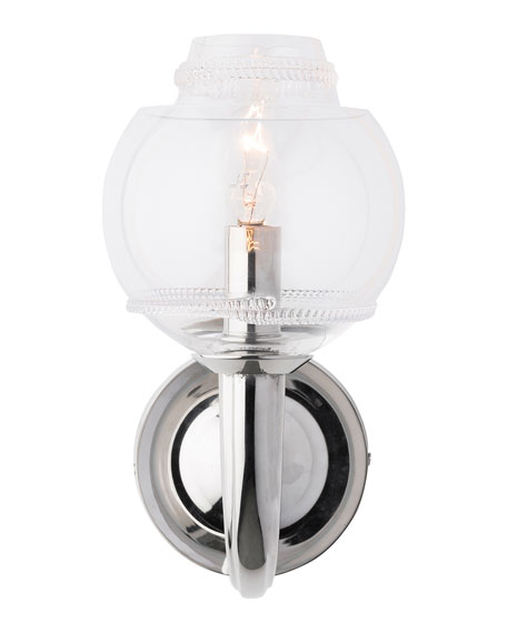 Dean Double Shade on Nickel Paris Sconce
