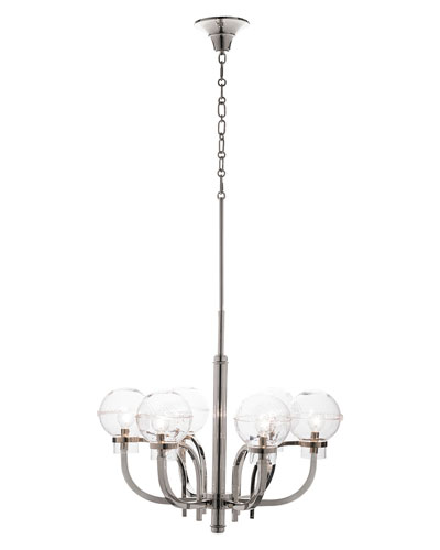 Graham Globe on Nickel London Chandelier