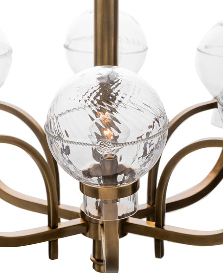 Graham Globe on Brass London Chandelier