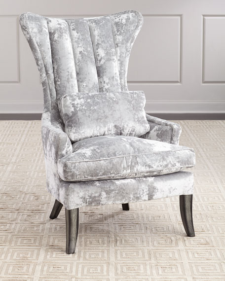 Sensational Arlene Channel Tufted Wing Chair Ocoug Best Dining Table And Chair Ideas Images Ocougorg