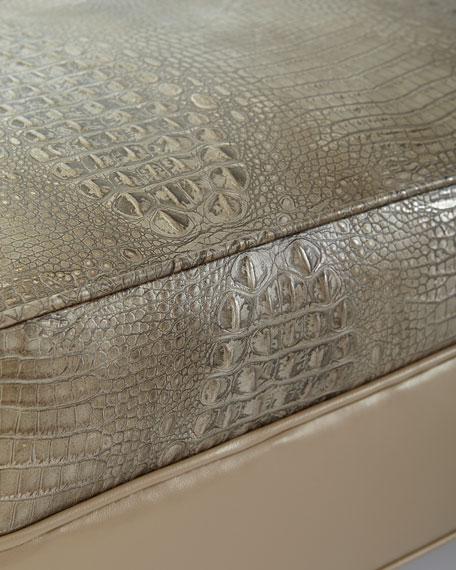 Natalie Embossed Leather Ottoman