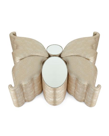 Farfalla Mirror Ottoman