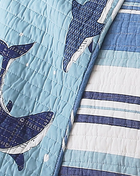 Sammy Shark Twin Quilt Set