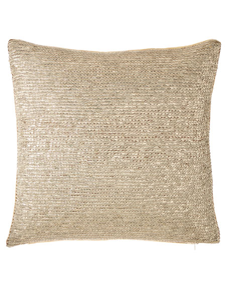 Isabella Collection by Kathy Fielder Jaden Sequin Pillow,