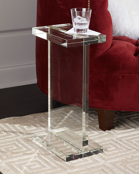 Rectangle Crystal Martini Table