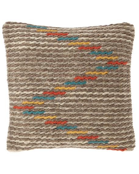 Striped Woven Pillow