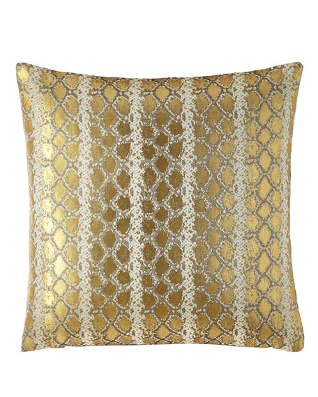 Gabriella Metallic Snake Pattern Pillow