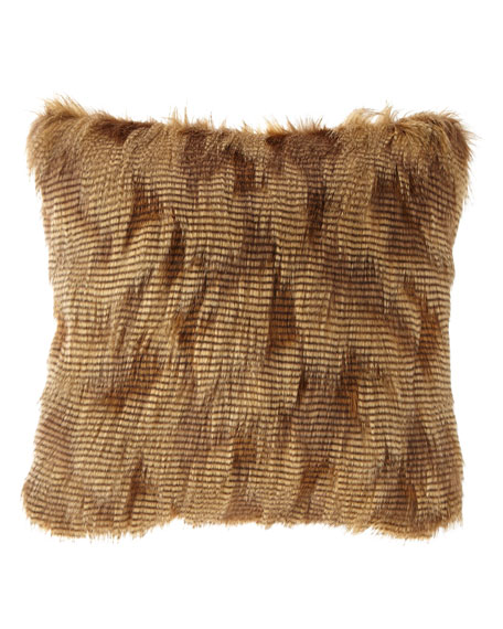 Abacus Square Faux-Fur Pillow