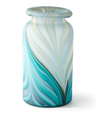 Large Esmeralda Swirl Vase