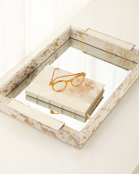 Hair on Hide Mirror Tray