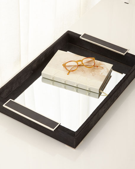 John-Richard Collection Leather Mirror Tray