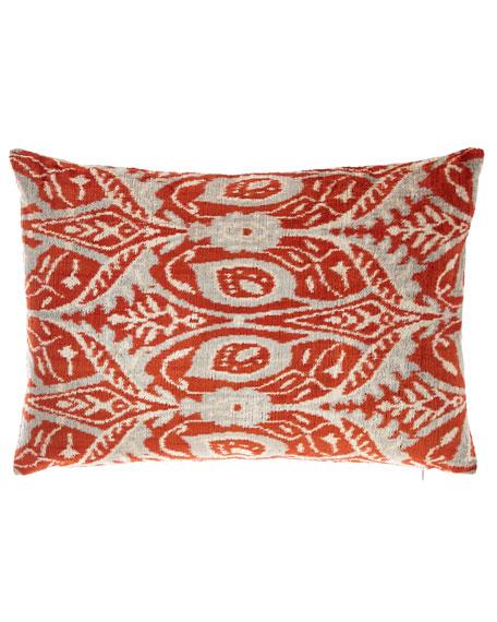 Woven Printed Velvet Pillow